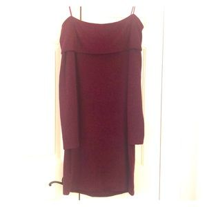 NWOT Express off the shoulder sweater dress